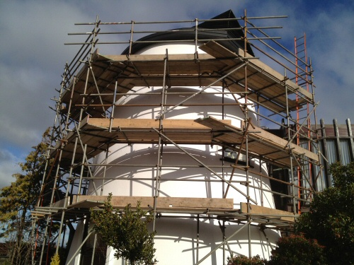 Tube and fitting scaffolding for iconic windmill renovation in Kirkham, near Preston